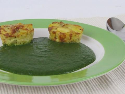 Babyrezept Mini-spanische Tortilla mit Cremespinat von Babyspeck & Brokkoli auf babyspeck.at