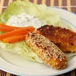 Gemüse-Haferflockensticks mit Karotten und Joghurtdip, Babyrezept von Babyspeck & Brokkoli auf babyspeck.at
