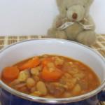 Weiße Bohnen-Karotten-Tofu-Eintopf, ein BLW Babyrezept ab 9 Monate auf babyspeck.at
