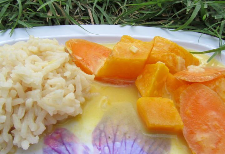 Babyrezept Kürbis-Karotten-Kokossauce von babyspeck.at.
