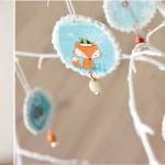 Babyspeck & Brokkoli Adventkalender, 5. Dezember 2015, Fimo-Christbaumanhänger mit Serviettentechnik von Titantina
