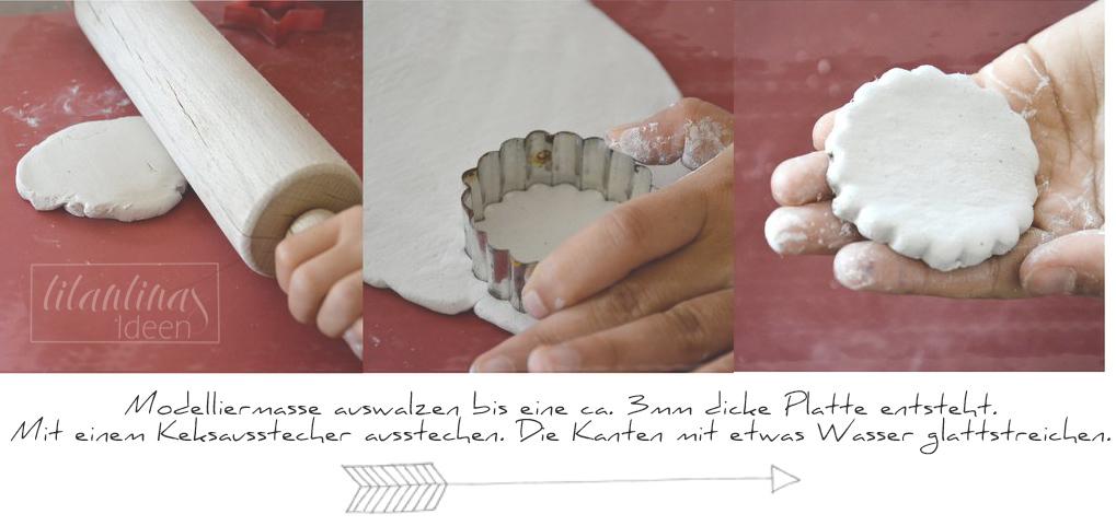 Babyspeck & Brokkoli Adventkalender, 5. Dezember 2015, Fimo-Christbaumanhänger mit Serviettentechnik von Titantina, Tutorial