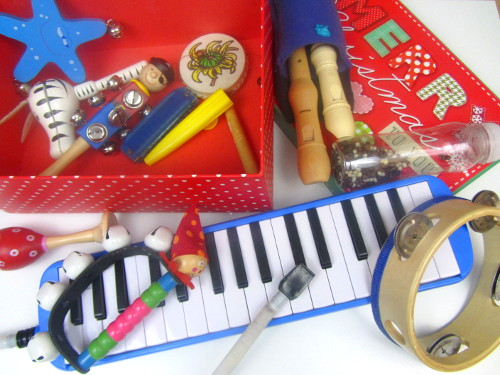 Adventkalender von Babyspeck & Brokkoli, 3. Dezember 2015, Klanggeschichten zu Weihnachten, Instrumente