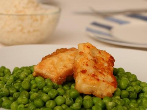 Backfisch paniert mit Mehl und Ei, Baby led weaning Rezept
